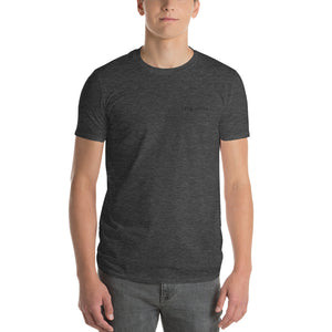 Men's Black Distressed Logo T-Shirt