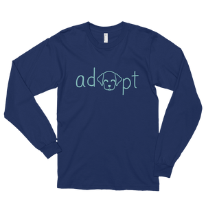 Women's Blue Adopt Dog Long Sleeve Shirt