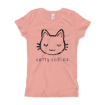 Girls Distressed Logo Cat T-Shirt