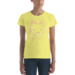 Women's Pink Paint Logo Cat T-Shirt