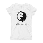 Girls Yin Yang Cat T-Shirt