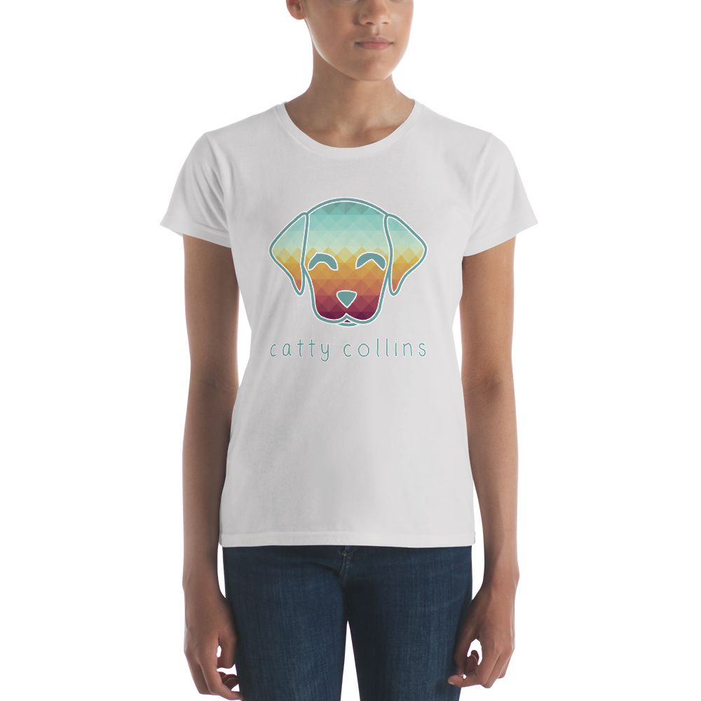Women's Triangle Pattern Dog T-Shirt