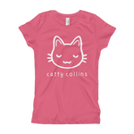 Girls White Logo Cat T-Shirt