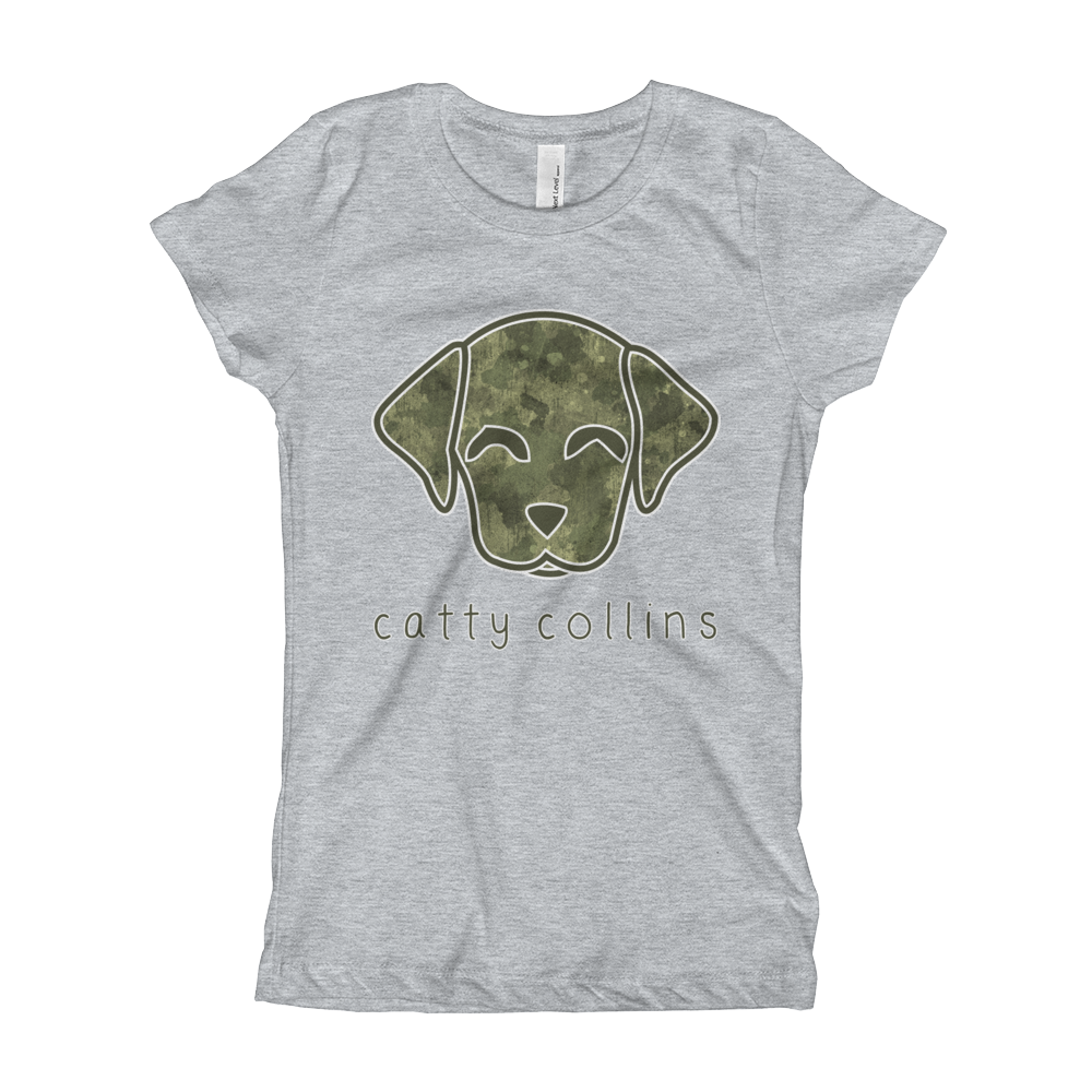 Girls Camo Dog T-Shirt