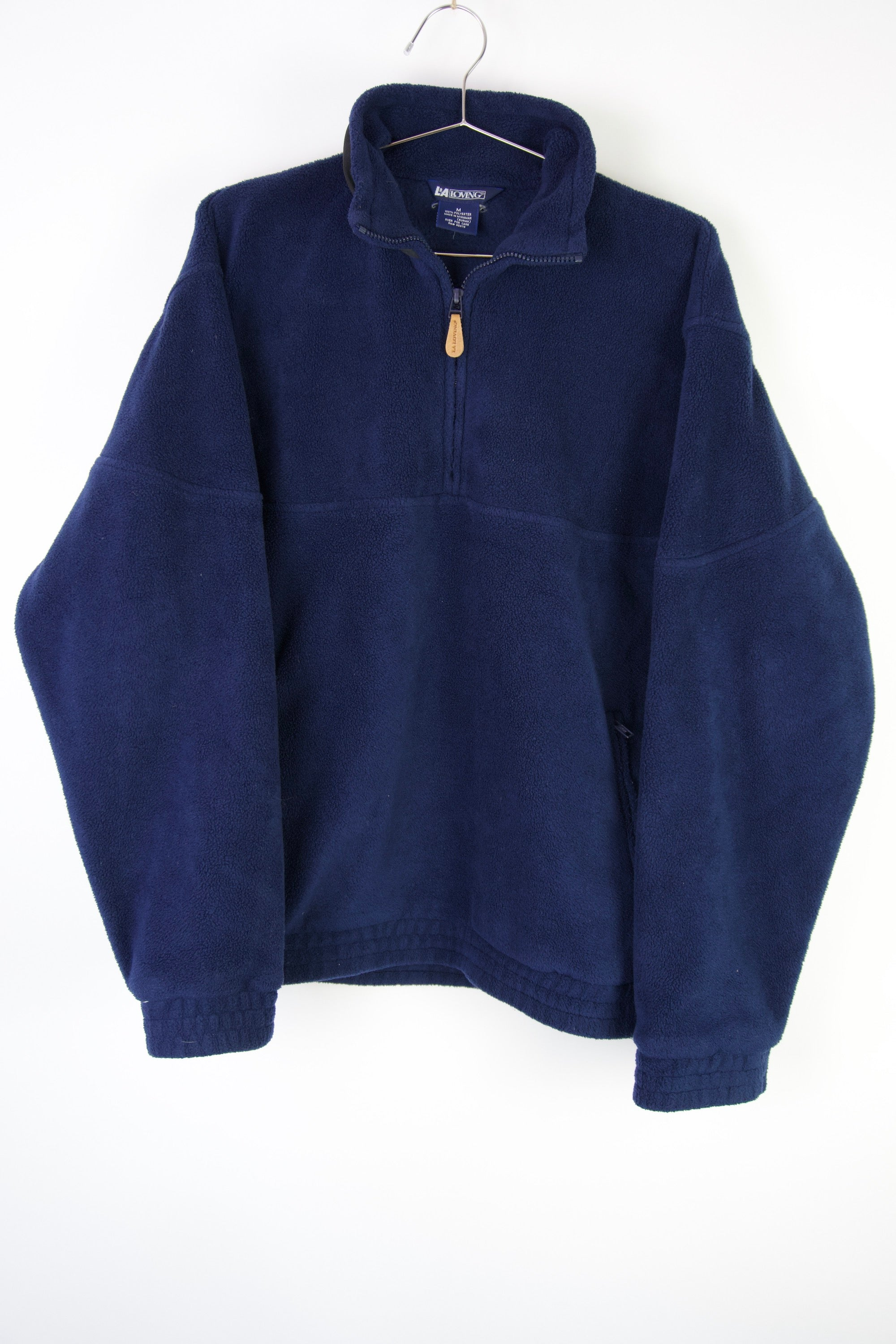 Navy Blue Quarter-Zip Fleece Sweatshirt