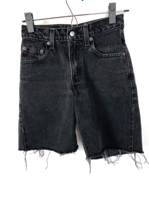 Levi's 550 Relaxed Regular Cut-Off Black Shorts