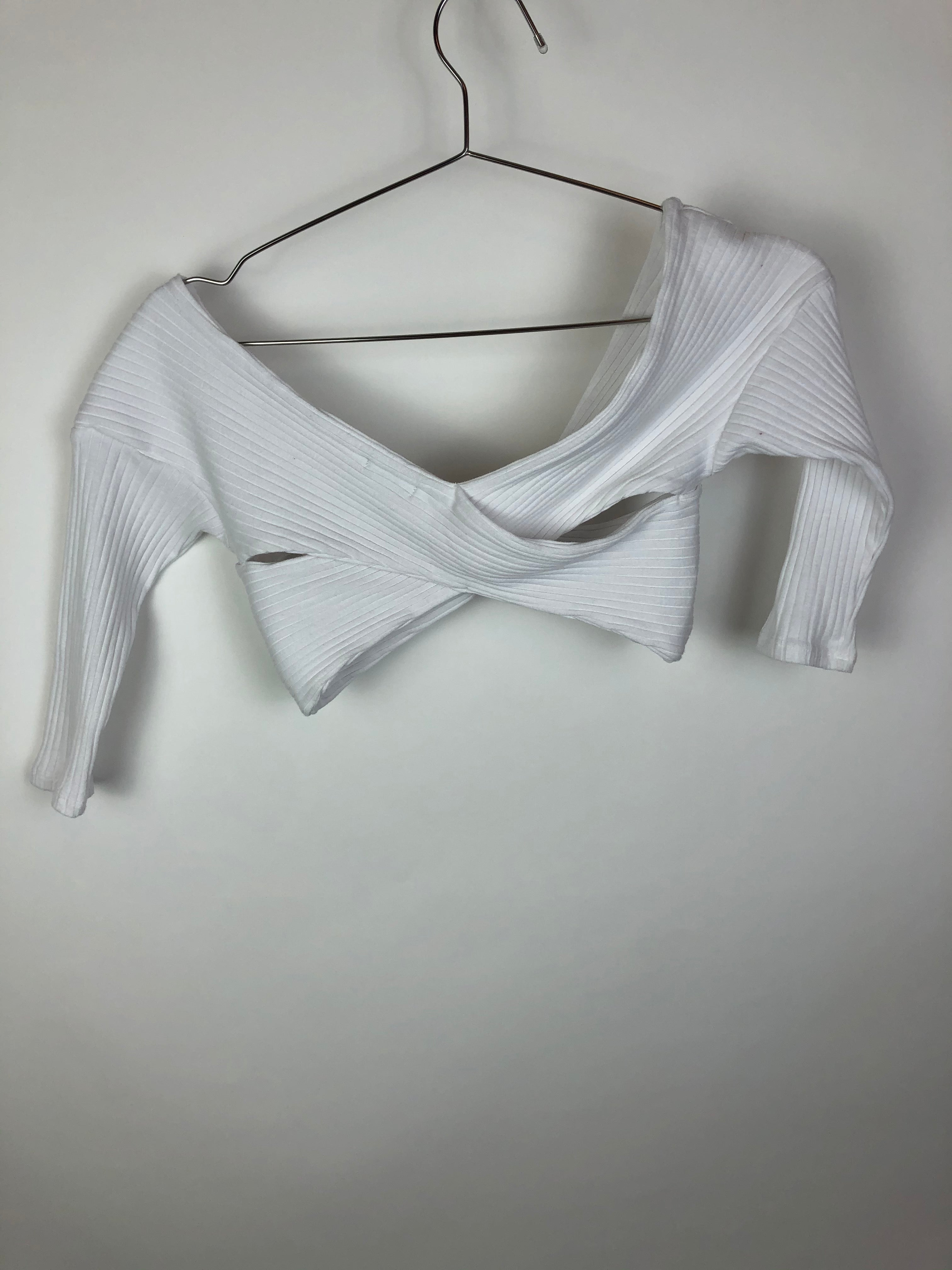 Kimchi Blue White Cropped Top