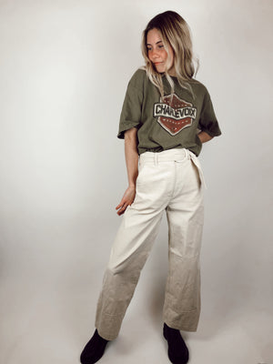 Forever 21 Wide-Leg Corduroy Pants With Belt