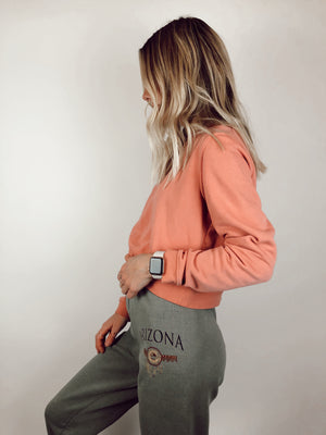 H&M Light Pink Cropped Sweatshirt