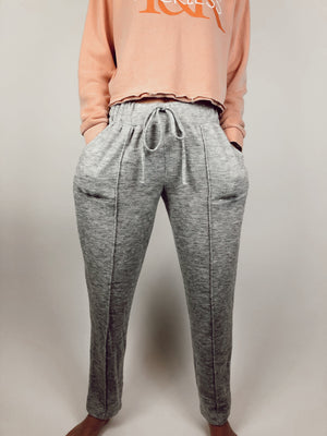 Wide-Leg Grey Sweatpants