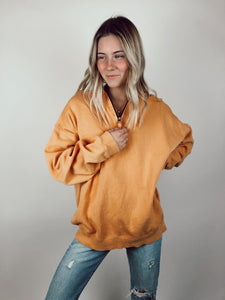 Orange Half Zip Sweatshirt