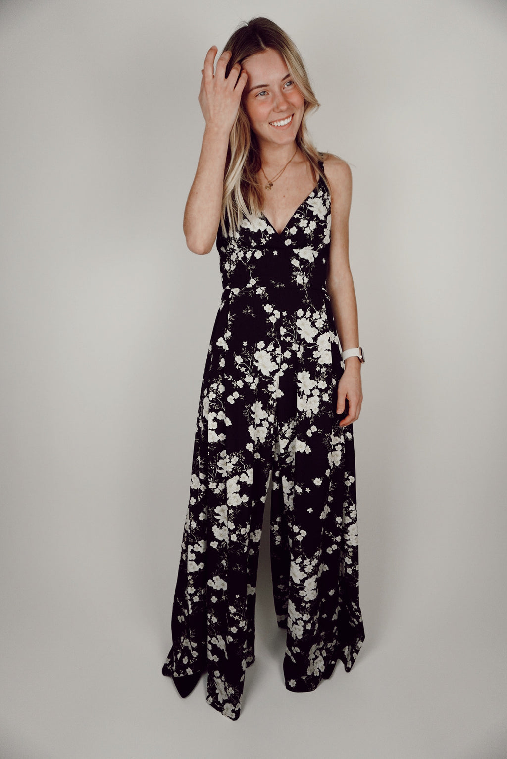 Apricot Lane Floral Wide-Leg Jumpsuit