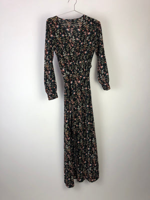 Hommage Floral Long Sleeve Maxi Dress