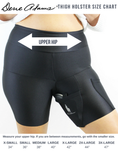 NUDE PLUS SIZE BODY SHAPING THIGH HOLSTER
