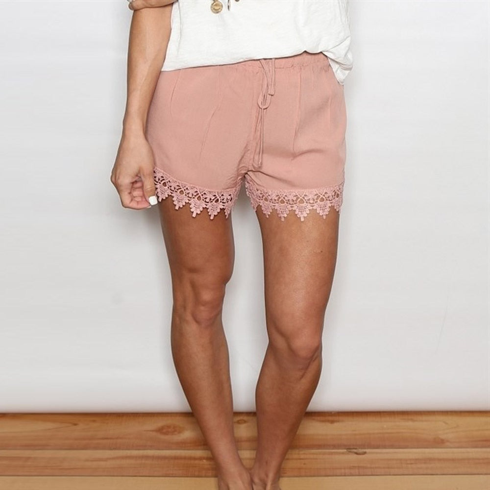 Pure Lace Spliced Casual Short - beginnings-lifestyle