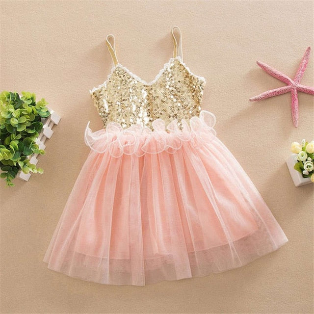 Vestidos Children Mesh Sleeveless Girl Princess Dress - beginnings-lifestyle
