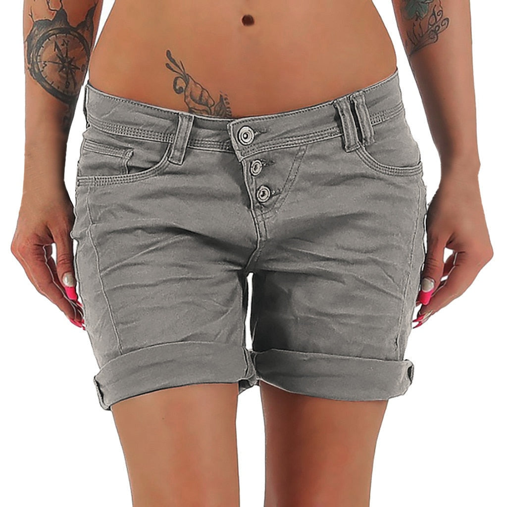 Denim Shorts Jeans High Waist Stylish Lady - beginnings-lifestyle