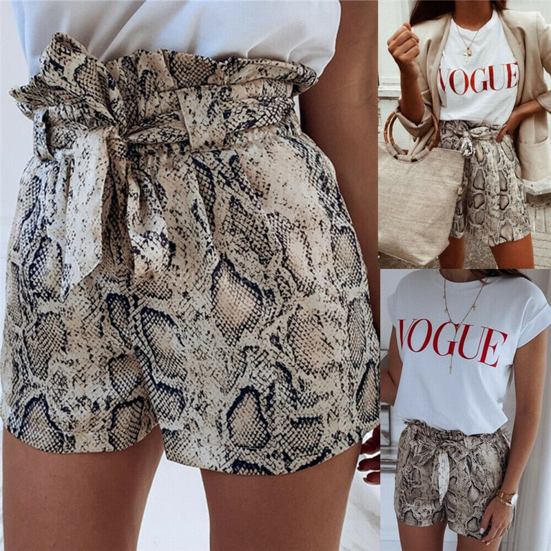 High Waist Snake Shorts - beginnings-lifestyle