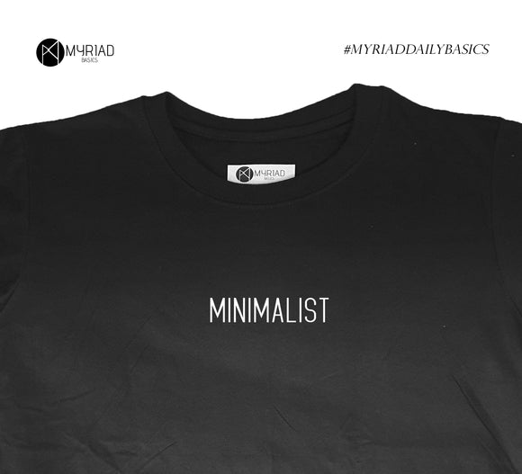 Round Neck T-Shirt - Minimalist (Black)