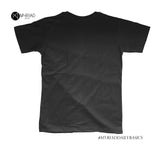 Round Neck T-Shirt - Less is More (Black)