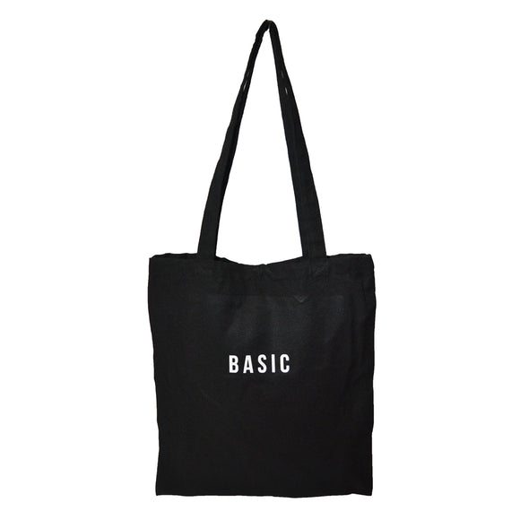 Colored Minimalist Tote bag - Basic (Black)