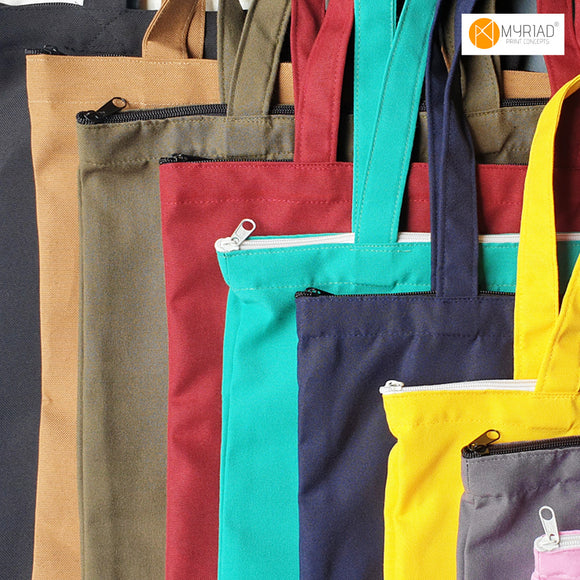 16x14 Plain Tote Bags with zipper