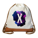 Galaxy Initial Drawstring bag