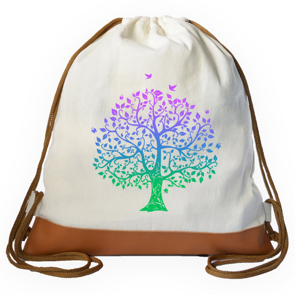 Tree of Life Gradient Graphic Drawstring bag
