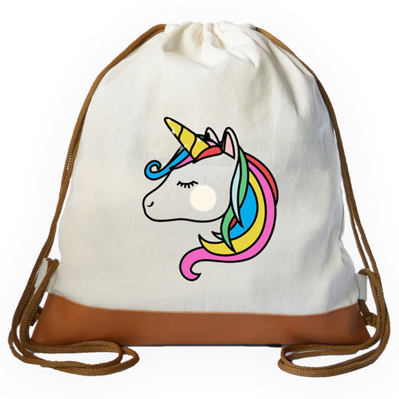 Unicorn Graphic Drawstring bag