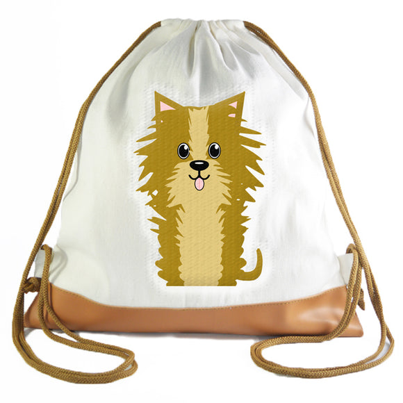 Yorkie Graphic Drawstring bag