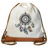 Colored Dreamcatcher Graphic Drawstring bag