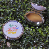 "Compact Mirror (Silver) - ""You are Capable of Amazing Things"""