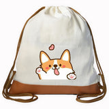Corgi Hi Graphic Drawstring bag