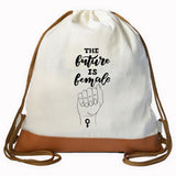 """FUTURE IS FEMALE"" Graphic Drawstring bag"