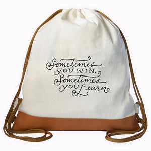 """WIN-LEARN"" Graphic Drawstring bag"