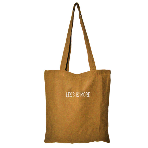 Colored Minimalist Tote bag - Less is More (Khaki)