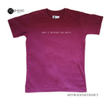 Round Neck T-Shirt - What's Holding You Back (Maroon)