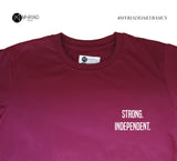 Round Neck T-Shirt - Strong Indepedent (Maroon)
