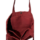Colored Minimalist Tote bag - Diamond (Maroon)