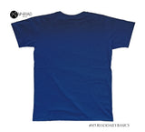 Round Neck T-Shirt - Against The Flow (Navy Blue)