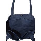 Colored Minimalist Tote bag - Wave (Navy Blue)