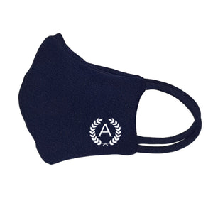 Washable Face Mask (Dark Blue) - Wreath Initial
