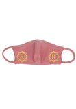 Washable Face Mask (Rose) - Diamond Gold Initial