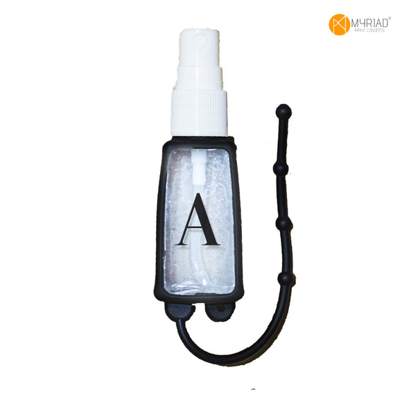 Initial Spray Bottle with Silicone Holder