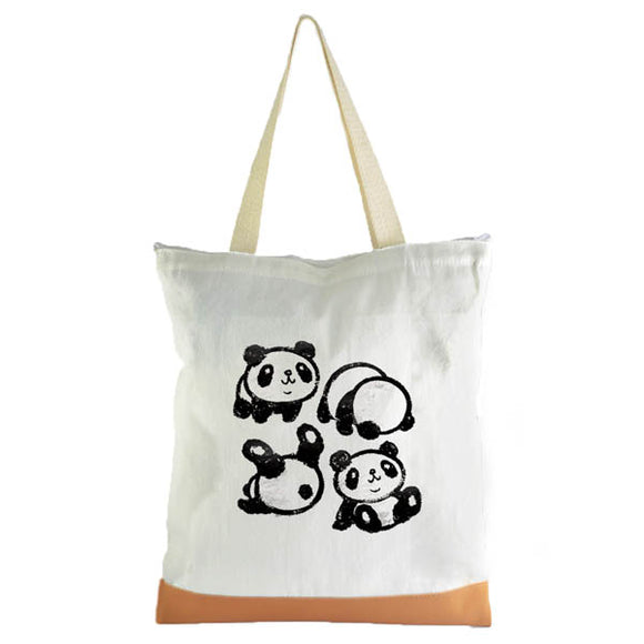 Tumbling Panda Graphic Tote