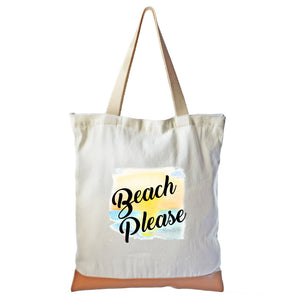 """Beach Please"" Graphic Tote bag"