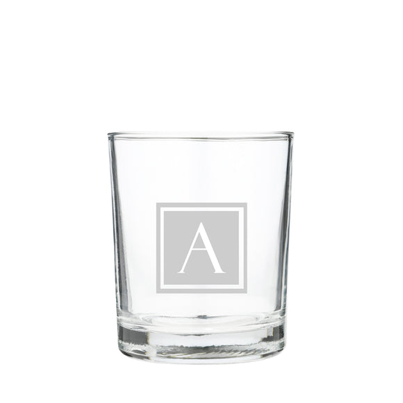 Scotch Whisky Square Initial Glass