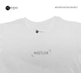 Round Neck T-Shirt - Hustler (White)