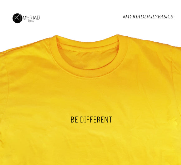 Round Neck T-Shirt - Be Different (Yellow)