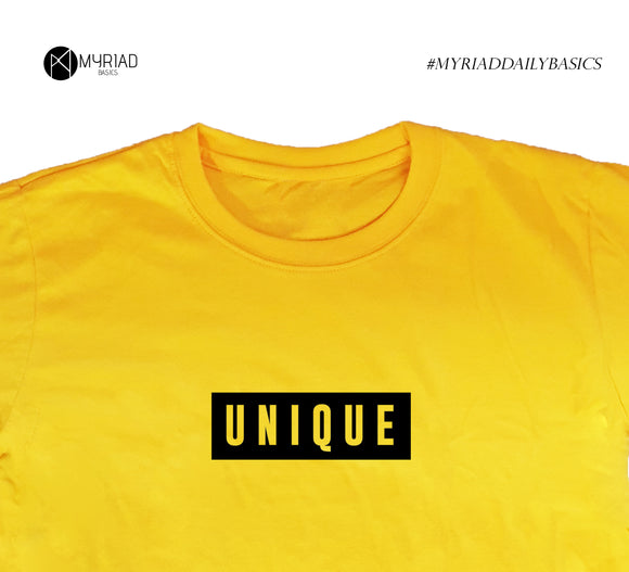 Round Neck T-Shirt - Unique (Yellow)